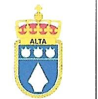 Coat of arms (crest) of the Minesweeper KNM Alta (M350), Norwegian Navy
