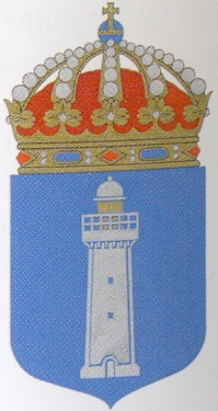 Coat of arms (crest) of the HMS Vinga, Swedish Navy