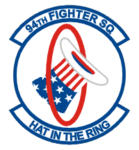 Coat of arms (crest) of the 94th Fighter Squadron, US Air Force