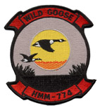 Coat of arms (crest) of the VMM-774 Wild Goose, USMC