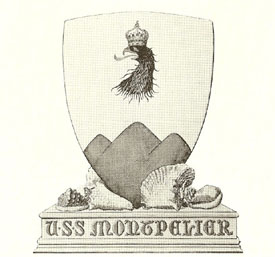 Coat of arms (crest) of the Cruiser USS Montpelier (CL-57)