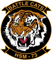 Coat of arms (crest) of the Helicopter Maritime Strike Squadron 73 (HSM-73) Battle Cats, US Navy