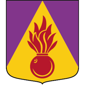 Coat of arms (crest) of the 912th Company, 91st Artillery Battalion, The Artillery Regiment, Swedish Army