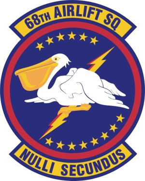 Coat of arms (crest) of the 68th Airlift Squadron, US Air Force