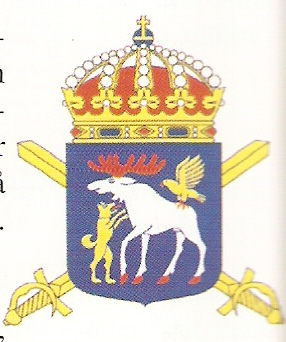 Coat of arms (crest) of the 4th Cavalry Regiment Norrland Dragoons, Swedish Army