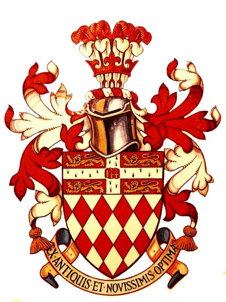 Arms (crest) of Fitzwilliam College (Cambridge University)