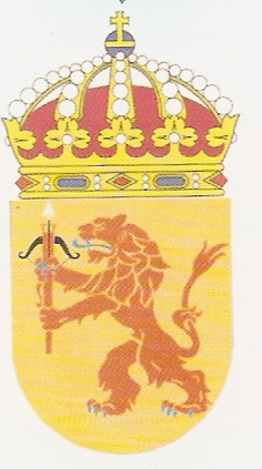 Coat of arms (crest) of the HMS Småland, Swedish Navy
