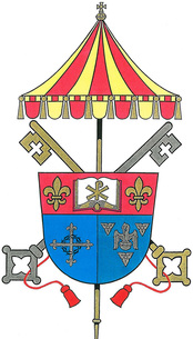Arms (crest) of Cathedral Basilica of Saint Louis King of France, New Orleans