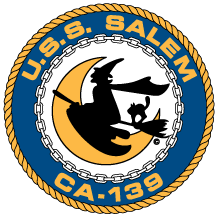 Coat of arms (crest) of the Cruiser USS Salem (CA-139)