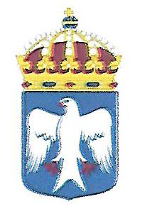 Coat of arms (crest) of the HMS Gladan, Swedish Navy