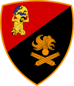 Coat of arms (crest) of the Artillery Command, Italian Army
