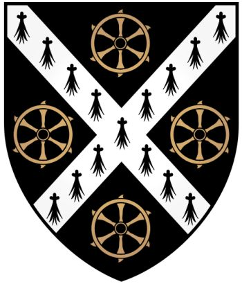 Arms of St Catherine's College (Oxford University)