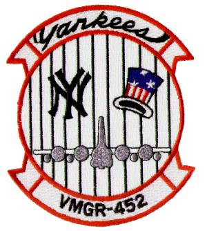 Coat of arms (crest) of the VMGR-452 Yankees, USMC