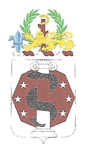 Arms of 168th Medical Battalion, US Army