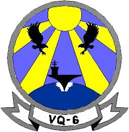 Coat of arms (crest) of the VQ-6 Black Ravens, US Navy