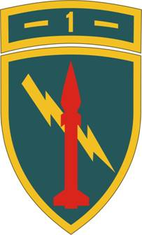 Arms of 1st Missile Command, US Army
