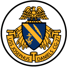 Coat of arms (crest) of the Cruiser USS Josephus Daniels (GC-27)