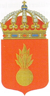 Coat of arms (crest) of the Artillery Centre, Swedish Army