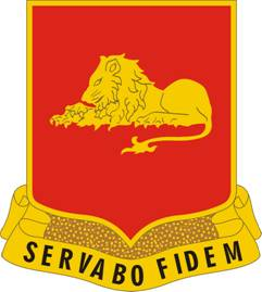 Arms of 33rd Field Artillery Regiment, US Army