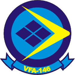 Coat of arms (crest) of the VFA-146 Blue Diamonds, US Navy