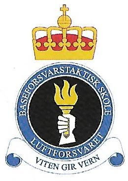 Coat of arms (crest) of the Base Defence Tactical School, Norwegian Air Force