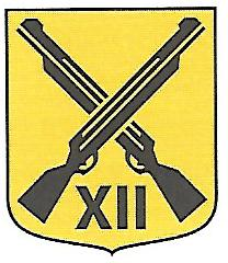 Coat of arms (crest) of the 12th Motorized Rifle Battalion Staff, Livgardet, Swedish Army