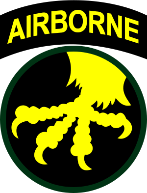 Coat of arms (crest) of the 17th Airborne Division Golden Talons Division, US Army