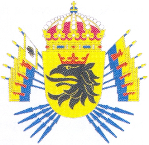 Arms of 2nd Armoured Regiment Scanian Dragoon Regiment, Swedish Army