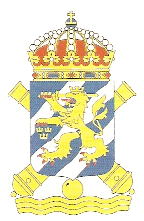 Coat of arms (crest) of the 4th Coastal Artillery Regiment Älvsborg Coastal Artillery Regiment, Swedish Navy