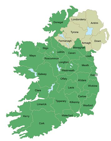 Irish counties
