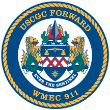 Coat of arms (crest) of the USCGC Forward (WMEC-911)