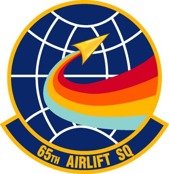 Coat of arms (crest) of the 65th Airlift Squadron, US Air Force