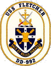 Coat of arms (crest) of the Destroyer USS Fletcher (DD-992)