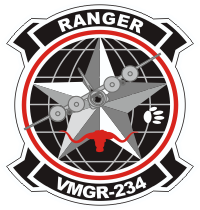 Coat of arms (crest) of the VMGR-234 Rangers, USMC