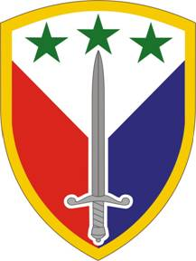Arms of 402nd Support Brigade, US Army