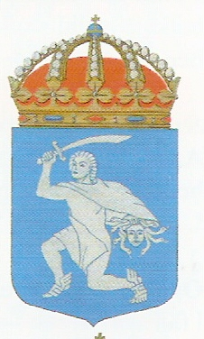 Coat of arms (crest) of the HMS Perseus, Swedish Navy