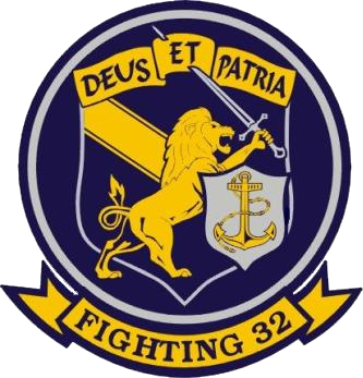 Coat of arms (crest) of the VFA-32 Swordsmen, US Navy