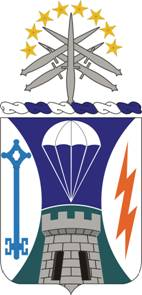 Coat of arms (crest) of the Special Troops Battalion, 1st Brigade, 82nd Airborne Division, US Army