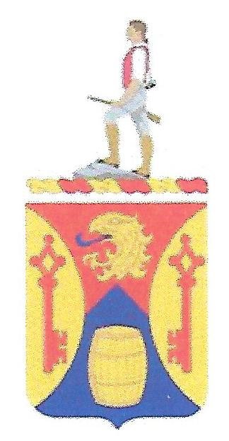 Arms of 687th Support Battalion, US Army