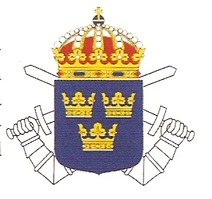 Coat of arms (crest) of the 1st Armoured Regiment Göta Life Guards, Swedish Army