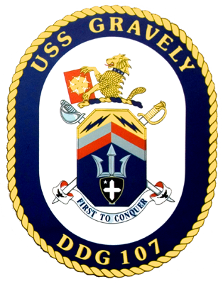 Coat of arms (crest) of the Destroyer USS Gravely (DDG-107)