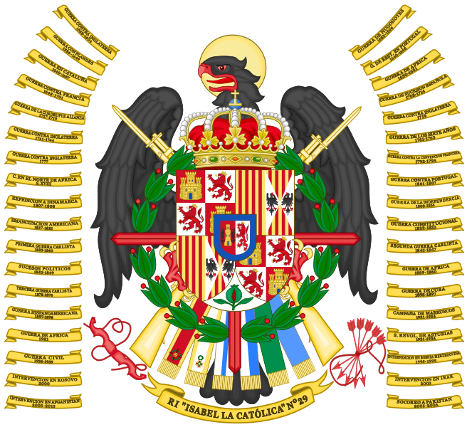 Arms of Infantry Regiment Isabel la Católica No 29, Spanish Army