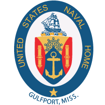 Coat of arms (crest) of the US Naval Home Gulfport, Mississippi, US Navy