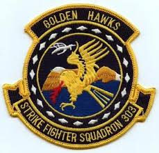 Coat of arms (crest) of the VFA-303 Golden Hawks, US Navy