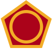 Coat of arms (crest) of the 50th Infantry Division (Phantom Unit), US Army