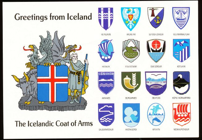 Arms (crest) of Heraldic postcards Iceland