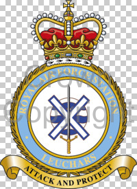 Coat of arms (crest) of the RAF Station Leuchars, Royal Air Force