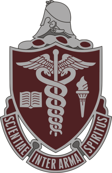Coat of arms (crest) of the Walter Reed Army Medical Center, US Army