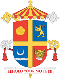 Arms (crest) of Basilica of Saint John the Evangelist, Stamford