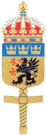 Coat of arms (crest) of the Central Military District Staff, Sweden